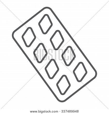 Erection Pills Thin Line Icon, Health And Pharmacy, Drug Sign, Vector Graphics, A Linear Pattern On