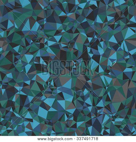 Random Seamless Blue Triangle Pattern Tile Mess