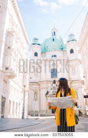 Woman In Vienna, Katholische Kirche St. Peter