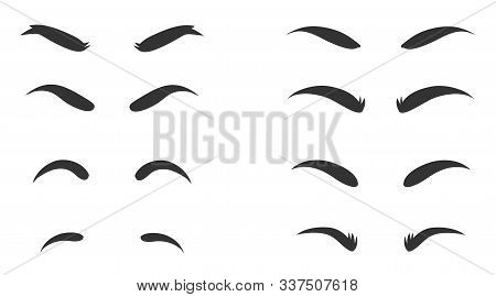 Eyebrows Shapes Set. Eyebrow Shapes. Various Types Of Eyebrows. Makeup Tips. Eyebrow Shaping For Wom