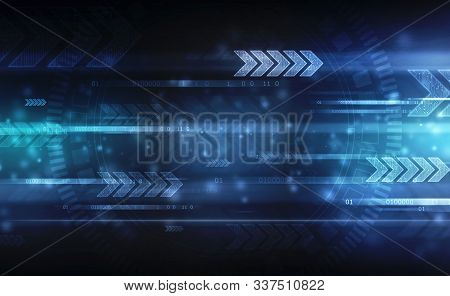 Digital Speed Technology, Binary Code Background, Digital Abstract Technology Background, Flowing Nu