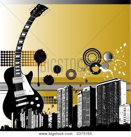 City Guitar Background