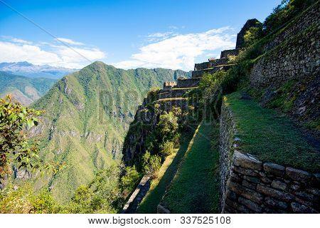 Machu Picchu - View From Huayna Picchu Mountain On Machu Picchu And Old Ruins