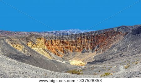 Ubehebe Crater In Death Valley National Park, California