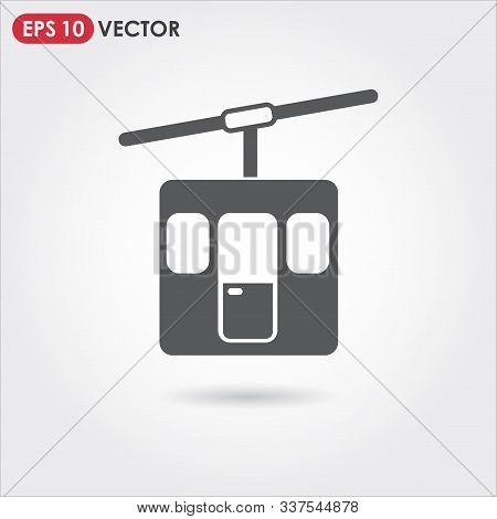 Funicular Single Vector Icon On Light Background