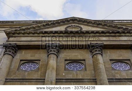 Bath, Somerset, Uk - December 1: Roman Baths And Grand Pump Room Known As Aquae Sulis On 1 December