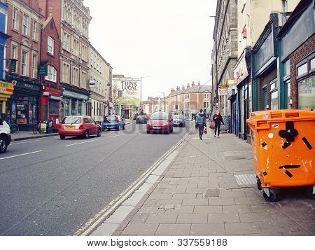 Bristol, Uk. 15 February, 2014: Stokes Croft Is A Road In Bristol, England. It Is Part Of The A38, A