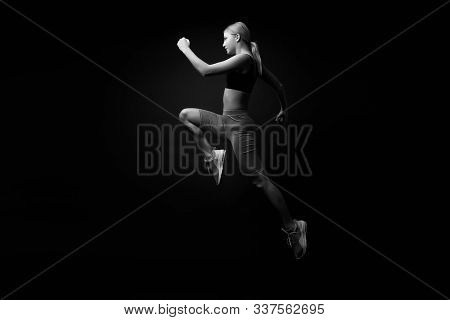 Life Is Motion. Woman Athlete Run Achieve Great Result. How Run Faster. Speed Training Guide. Improv