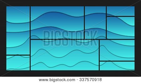 Blue Abstract Liquid Shapes Background Layout. Modern Web Concept Design. Vector Illustration.