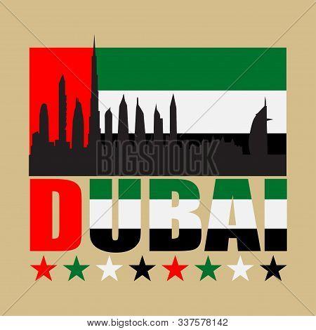 Dubai Typography, T-shirt , Design Graphic, Printing Man Dubai