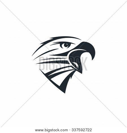 Eagle Head On White Background. Crowing Eagle Icon.