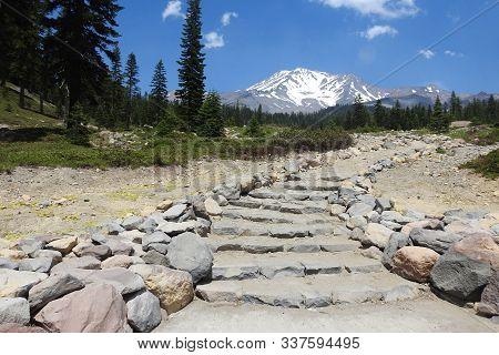 Bunny Flat Trailhead, Mount Shasta, Siskiyou County, California.