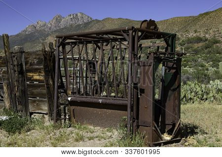 Abandoned Cattle Branding Chute In The Desert Of The Tonto National Forest Near Phoenix Arizona With