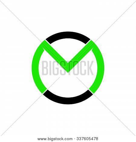 Letter Mo Geimetric Line Circle Logo Vector