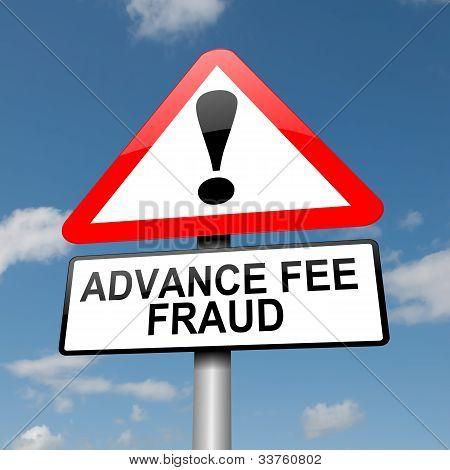 Advance Fee Fraud Concept.