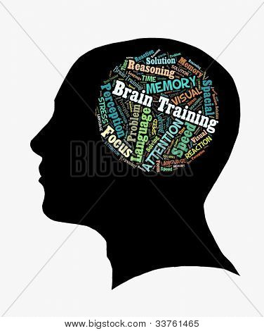 Brain Training in Word Collage