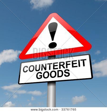 Counterfeit Goods Concept.
