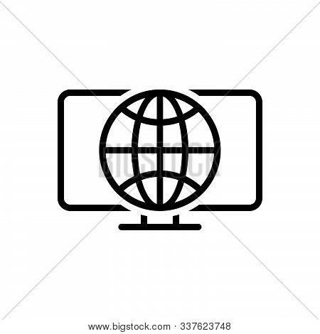 Black Line Icon For Web Initiative Development