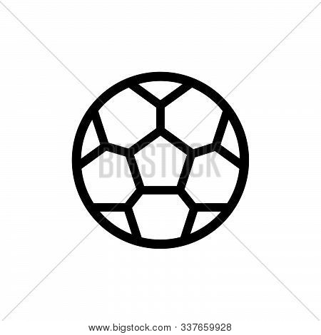 Soccer Or Football Icon. Soccer Vector Illustration Of A Soccer Or Football Ball Isolated On White B