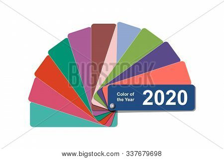 Change Color Of The Year To 2020, Classic Blue Trend Colour Palette Sample Swatch Book Guide, Stock
