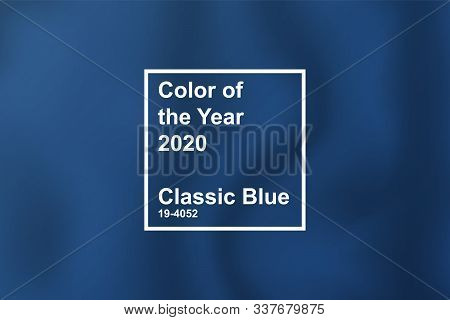 Textile Cloth Coloring In Trend Classic Blue Color Of The Year 2020 For Fashion, Home, Interiors Des