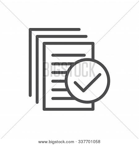 In Compliance Icon With Paper, Checks & List