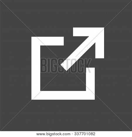External Link Icon - Square And Arrow, Pointing