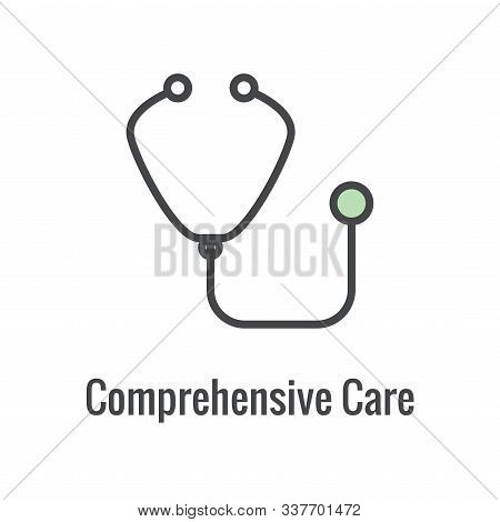 Comprehensive Care Icon W Health Related Symbolism And Image