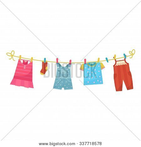 Baby Wahed Linen On Clothesline, Bright Laundry
