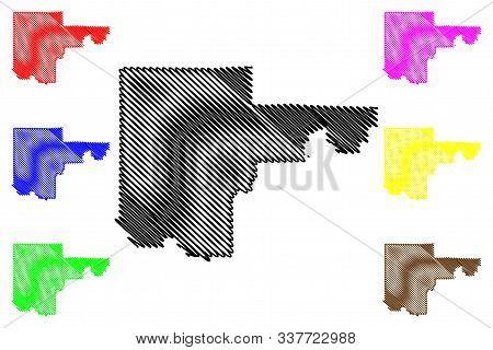 North Las Vegas City ( United States Cities, United States Of America, Usa City) Map Vector Illustra