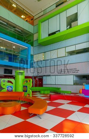 Haifa, Israel - November 30, 2019: View Of The Interior Play Atrium In The Ruth Rappaport Children H