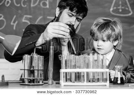 Chemistry Experiment. Cognitive Process. Kids Cognitive Development. Mental Process Acquiring Knowle