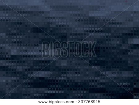 Dark Blue Color Light Abstract Pixels Technology Background For Computer Graphic Website Internet. C