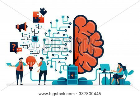 Artificial Intelligence For Problem Solving. Artificial Brain Network System. Intelligence Technolog