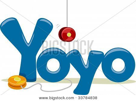 Text Illustration Featuring the Word Yoyo