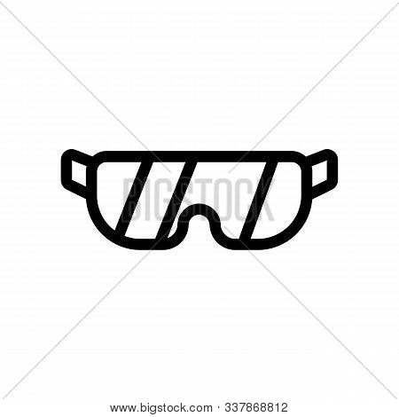 Glass Icon Vector Glasses. Thin Line Sign. Isolated Contour Symbol Illustration
