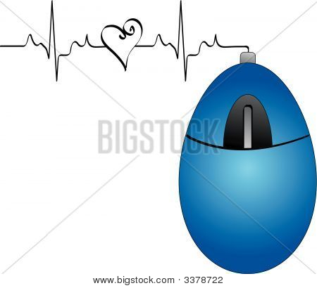 Mouse Blue W Heart Beat.