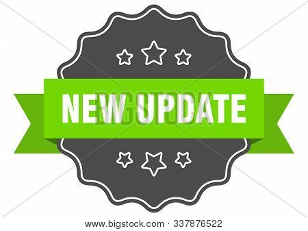 New Update Isolated Seal. New Update Green Label. New Update