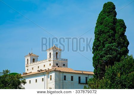 Villa Medici, A Mannerist Villa And Complex Within The Grounds Of Villa Borghese Gardens, On Pincian
