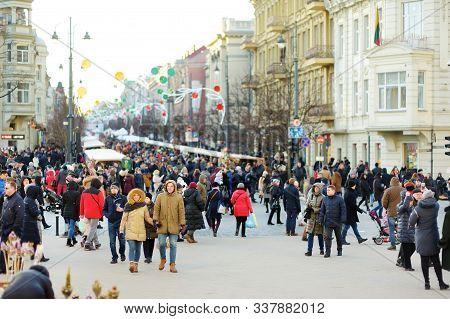 Vilnius, Lithuania - March 4, 2019: Kaziuko Muge Or Kaziukas, Traditional Easter Market, Annual Craf