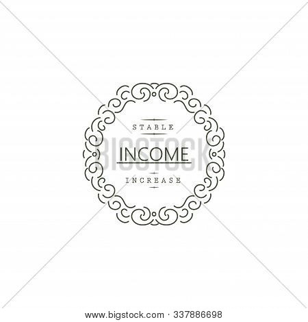 Logo For Company. Business. Stable Income Increase. Sign And Symbol