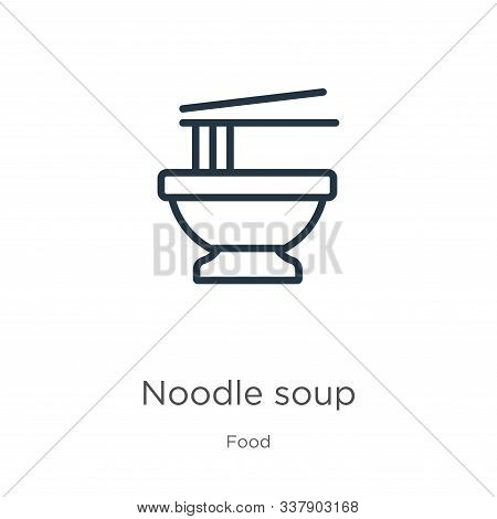 Noodle Soup Icon Vector Photo Free Trial Bigstock
