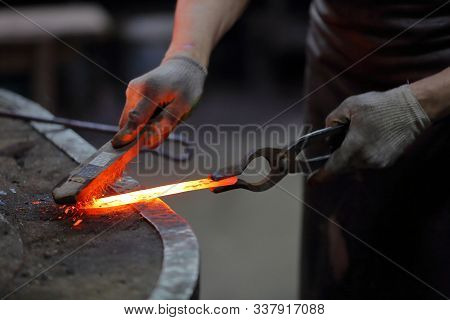 The Process Of Manufacturing A Craft Product In A Forge