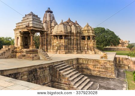Historic Monuments In The Erotic Temple Complex Of Khajuraho, India