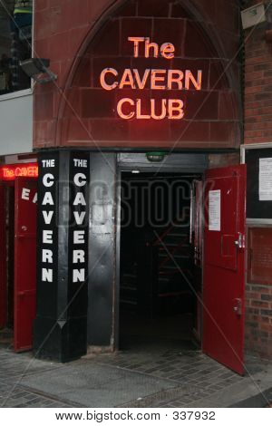 enterance to the famous cavern club , liverpool, made famous by the beatles poster