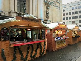 Brussels, Belgium - December 2, 2018: Vendors Sell Food, Drinks And Gifts For Christmas And St. Nich