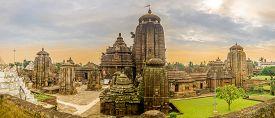 Bhubaneswar,india - November 9,2019 - Panoramic View At The Lingaraja Temple Complex In Bhubaneswar.