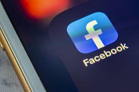 Calgary, Alberta. Canada Dec 4 2019: Close Up Of The Facebook App. Facebook Provides Employees A Cha
