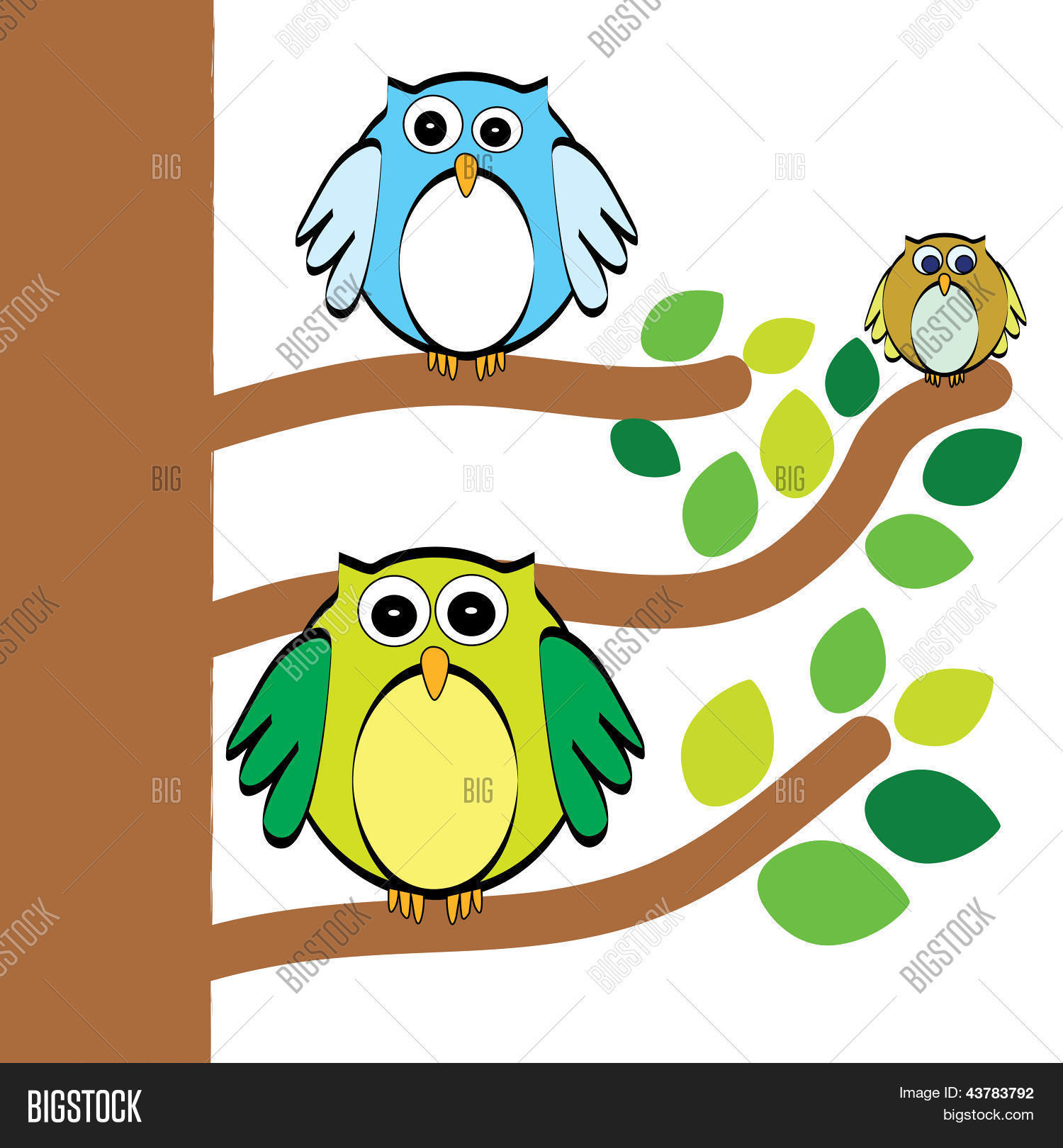 Three Owls Vector & Photo (Free Trial) | Bigstock