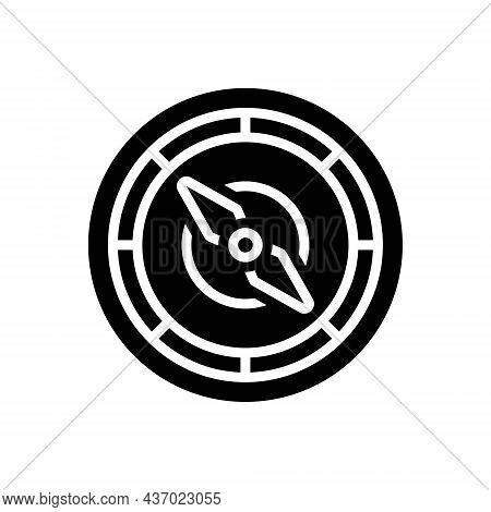 Black Solid Icon For Navigate Compass Localization Orientation Guideline Direction Nautical Destinat